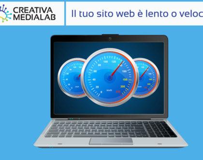 test della velocità di un sito web